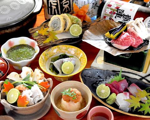 落ちついた雰囲気の中で、こだわりの新鮮な瀬戸内海の魚介類をどうぞ。