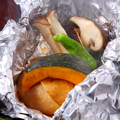 料理メニュー写真野菜のホイル焼き