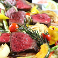 旬の食材&メインのステーキを存分に♪各種コースも!