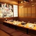 絵が壁一面に書かれた個室が宴会に人気です※写真は系列店です