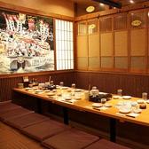 絵が壁一面に書かれた個室が宴会に人気です