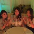【女子会・誕生日】女性に嬉しいお得な女子会コースございます♪女性限定☆3時間飲み放題付コース5600円⇒3300円♪