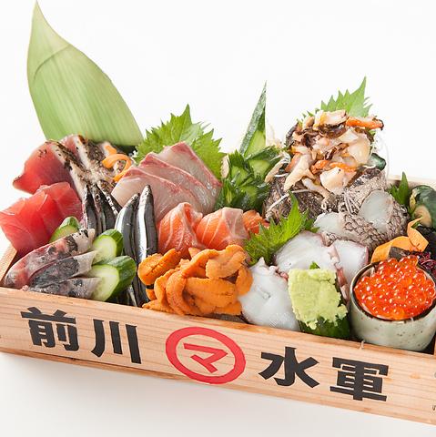 海賊をモチーフにした【前川水軍】!原価率度外視のトロ箱など新鮮活魚を愉しめる!