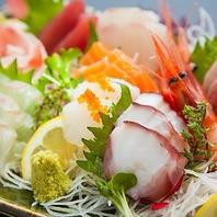 【新鮮な旬魚のお造り】