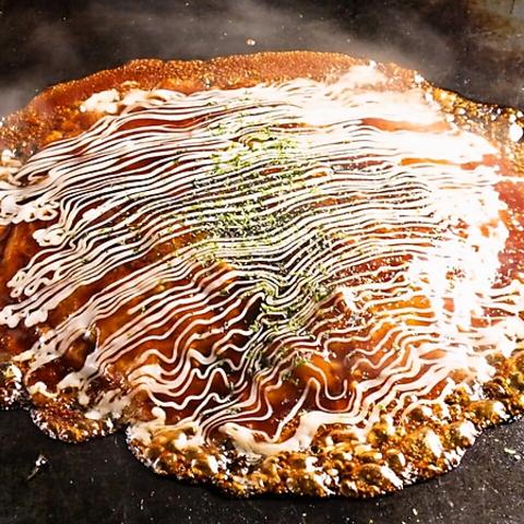 池袋/TV、メディアでも取り上げられている「神戸だしお好み焼と鉄板焼」をゆったりと