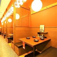 阪急梅田堂山店は完全個室・半個室のテーブル席を完備