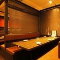 ほど良い仕切りのテーブル個室は様々なシーンで使い勝手抜群です!