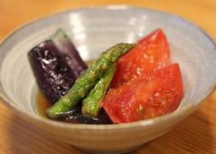 料理メニュー写真日替り野菜の煮浸し