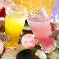 飲み放題は130種超より選べます!カクテル・果実酒豊富にラインアップしております♪