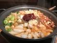 ナッチ(手長だこ)コプチャン(ホルモン)セウ(海老)の韓国旨辛鍋