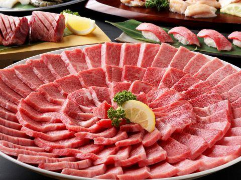 【120分飲み放題&食べ放題】黒毛和牛、肉寿司もOK!!女性3800円/男性4300円(並)