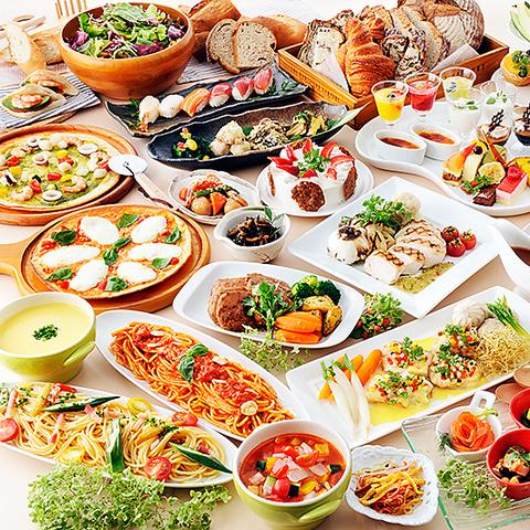 イタリアンなど種類豊富な料理・デザートが食べ放題♪