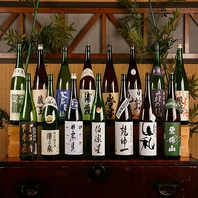きき酒師の店長が厳選した日本酒は常時20種以上。