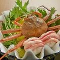 別邸では蟹を思う存分お召し上がりいただけます