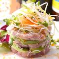 料理メニュー写真美ら海マグロとアボガドのタルタル