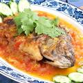 料理メニュー写真マチャ・ミェン・カンム 淡水魚トマト飴かけ