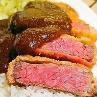 [6食限定]黒毛和牛サ-ロイン厚切り牛かつめし\2800(抜)