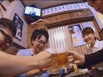 仲間と飲む串揚げ・串焼きに生ビール!くぅ!たまらんっ!!!