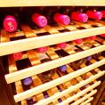店内にはワインセラーもあります。お好み焼きだけではなく、本格スウェーデン料理をワインと一緒にご堪能ください。