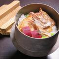 料理メニュー写真のど黒の釜飯(約二人前)