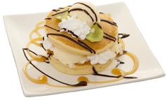 料理メニュー写真アイスサンドパンケーキ