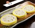 料理メニュー写真辛子レンコン/クラッカーバターチーズのせ