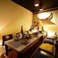 ◆掘り炬燵完全個室~8名様用/完全個室掘り炬燵席はゆったりした空間での会社宴会、接待・会食などにも最適。