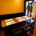 外の景色も見ながらお食事を楽しめる個室です。