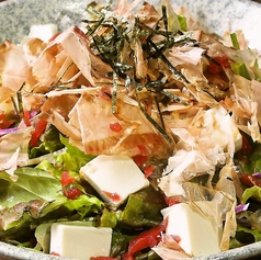 豆腐とカリカリ梅のさっぱりサラダ
