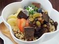 料理メニュー写真クリームショコラとダライフルーツ