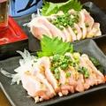 料理メニュー写真大山鶏のムネたたき/モモたたき