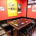 【1階テーブル席】最大10名様までご利用いただけるテーブル席です。