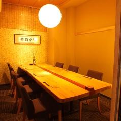 テーブル個室。雰囲気自慢の個室です。