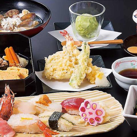 ≪季節の握りコース3000円(税込)≫お料理は御一人様ごとにお出しします 法事法要、接待にどうぞ