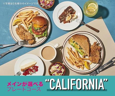 【ソフトドリンク飲み放題付】メインが選べるカリフォルニアコース