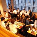 歓送迎会、忘新年会や会社宴会など貸切も承っております。着席は最大60名様までOK!立食パーティーなどのご相談も承っております。