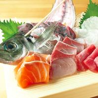 刺身や寿司など鮮魚メニューが豊富に