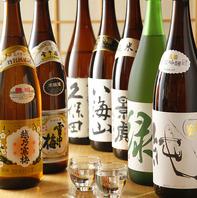 豊富な日本酒と焼酎!!