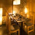 接待や会食、会合等のビジネスシーンに最適のラグジュアリーな個室◎大切なお客様のおもてなしの席に是非ご利用くださいませ。素敵な個室空間で美味しいお酒とお食事をご堪能ください♪