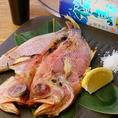 鹿児島漁港直送の新鮮なお魚も炭火でこんがりやきあげます!