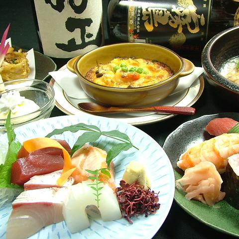 極上のお寿司と創作和食が楽しめる居酒屋・浄正!コースは飲み放題付3500円~各種!