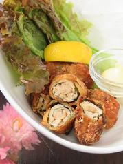 ●鶏ササミの梅肉シソ竜田揚げ