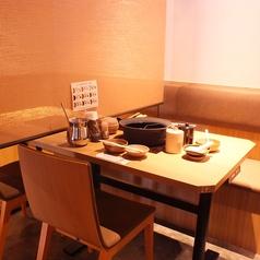 人数に応じてテーブル席をご用意いたします!神戸三宮エリアでしゃぶしゃぶ食べ放題宴会は温野菜におまかせ!飲み放題もあるので歓迎会・送別会・二次会など各種飲み会にもバッチリです!