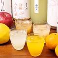 女性に人気の果実酒や魚米特製サワー・ハイボールもオススメ♪ポンカンや日向夏、柚子を使用したサワー・ハイボールは当店オススメ!!程よい酸味と香りがクセになります◎