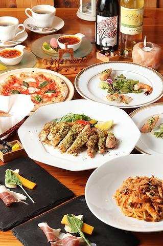 《ディナー限定》メイン料理がついた人気コース【お魚orお肉のメイン料理コース】3800円