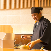 旬の食材を使用◆熟練の技で仕上げます