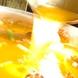 創業50余年間、国産鶏100%使用の黄金スープへのこだわり