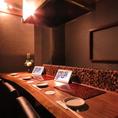 【最大4名様】接待やデートなどに最適なワンランク上のカウンター席が御座います。