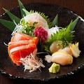 料理メニュー写真鮮魚の刺身3点盛り