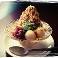 料理メニュー写真パッピンス登場!ふわふわの台湾式のカキ氷にフルーツや小豆などトッピングでデザートまで◎